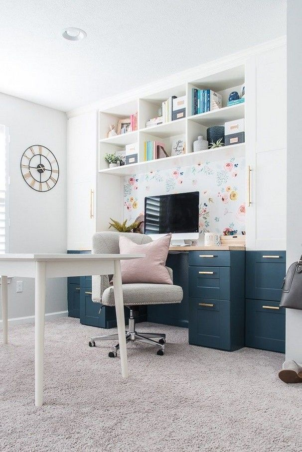 Craft Room Ideas On A Budget Diy Small Spaces Apartments Decorating In 2020 Home Office Decor Creative Home Home Office Space