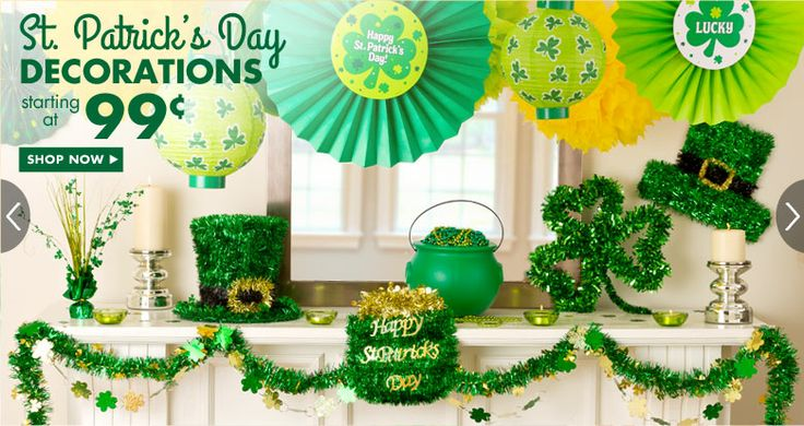 St Patrick's Day Decorations  Feb 2014