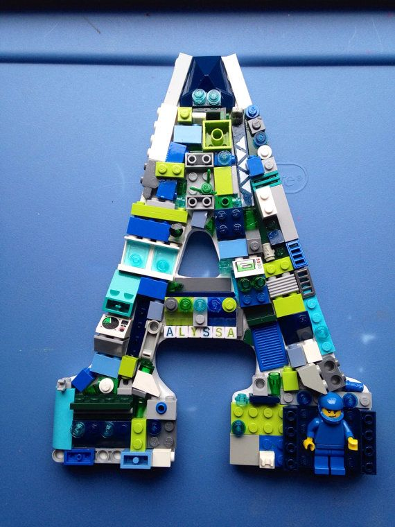 Custom Lego wall letter. Reserved by MosaicTreasureBox on Etsy