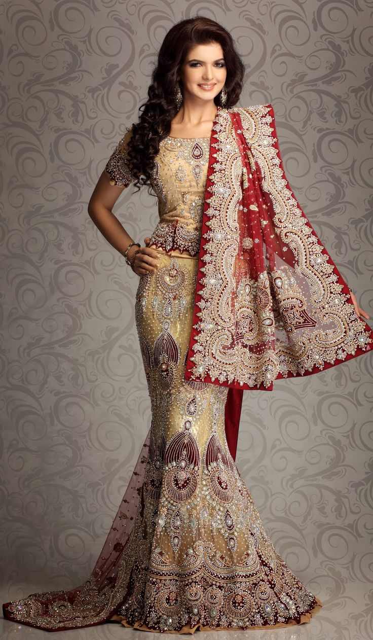 Latest lehenga designs for indian girls 2015 16 fashion for Punjabi wedding dresses online