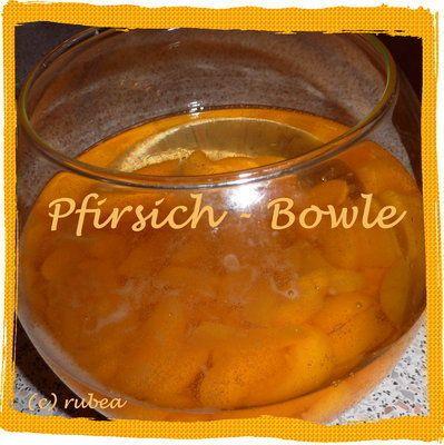 Pfirsich-Bowle