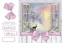 Beautiful Winter Scenery Through The Window 8x8 on Craftsuprint - View Now!