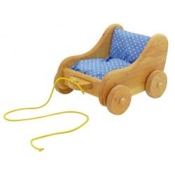 chariot à tirer pour jouet et poupée en bois