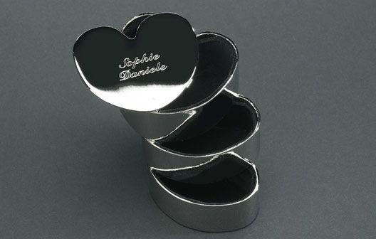 Personalised Stacking Heart Jewellery Box #DearSanta