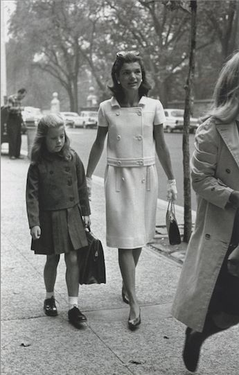 Walking with Caroline Down The Sidewalk Next To Central Park, 1965.