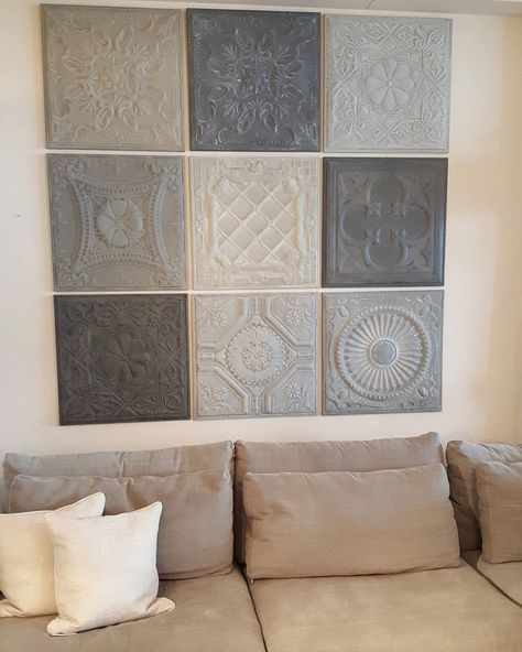 Concrete tile wall decor