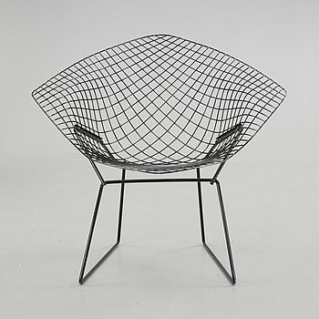 "FÅTÖLJ, ""Diamond Chair"", Harry Bertoia."