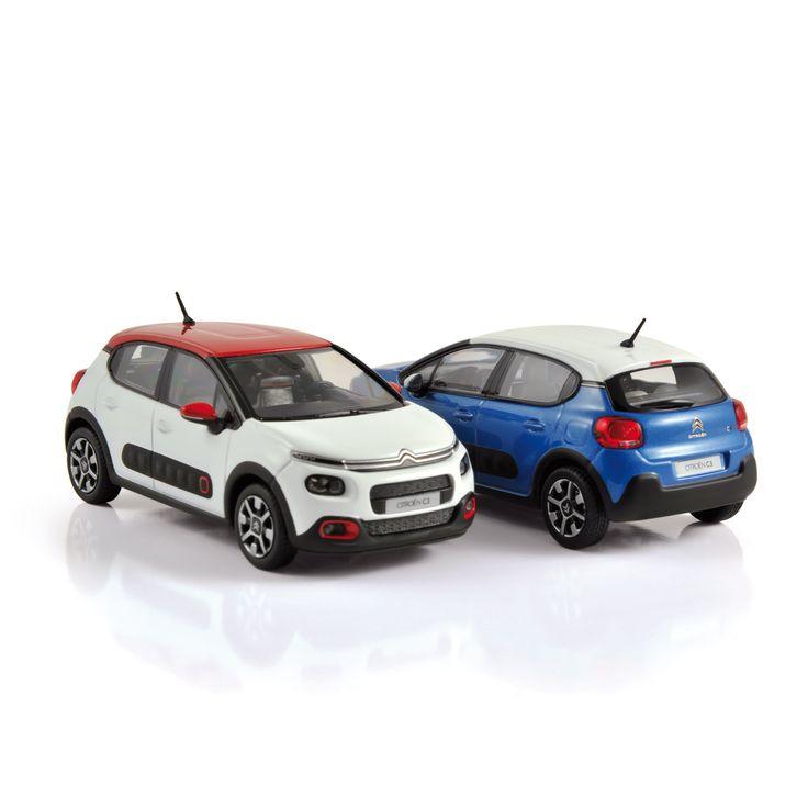 1:43 NOREV Collectors  155267 Citroën C3 2016 Banquise White & Red 155268 Citroën C3 2016 Cobalt Blue & White ✔ production samples / exemplaires de production
