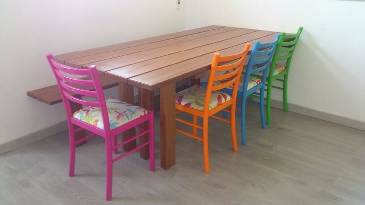 Our diy table and painted chairs :-)