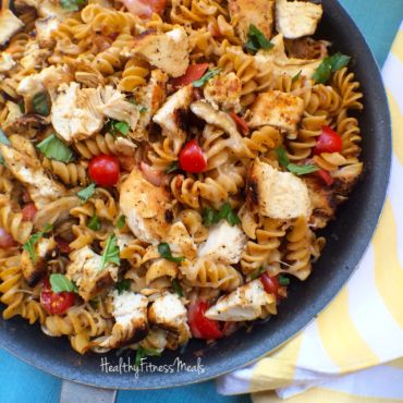 Grilled Chicken Tomato & Basil Pasta - great for summer time