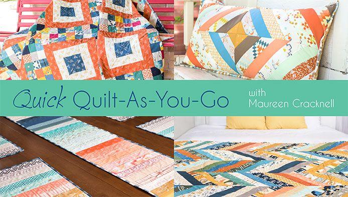 Quick Quilt as you go!  Beginner quilt class. http://quilting.myfavoritecraft.org/easy-quilt-patterns/