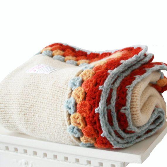 Unisex Wool Pram Blanket