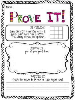 Prove it! {4th grade Common Core math problems} - Could be used as an exit card