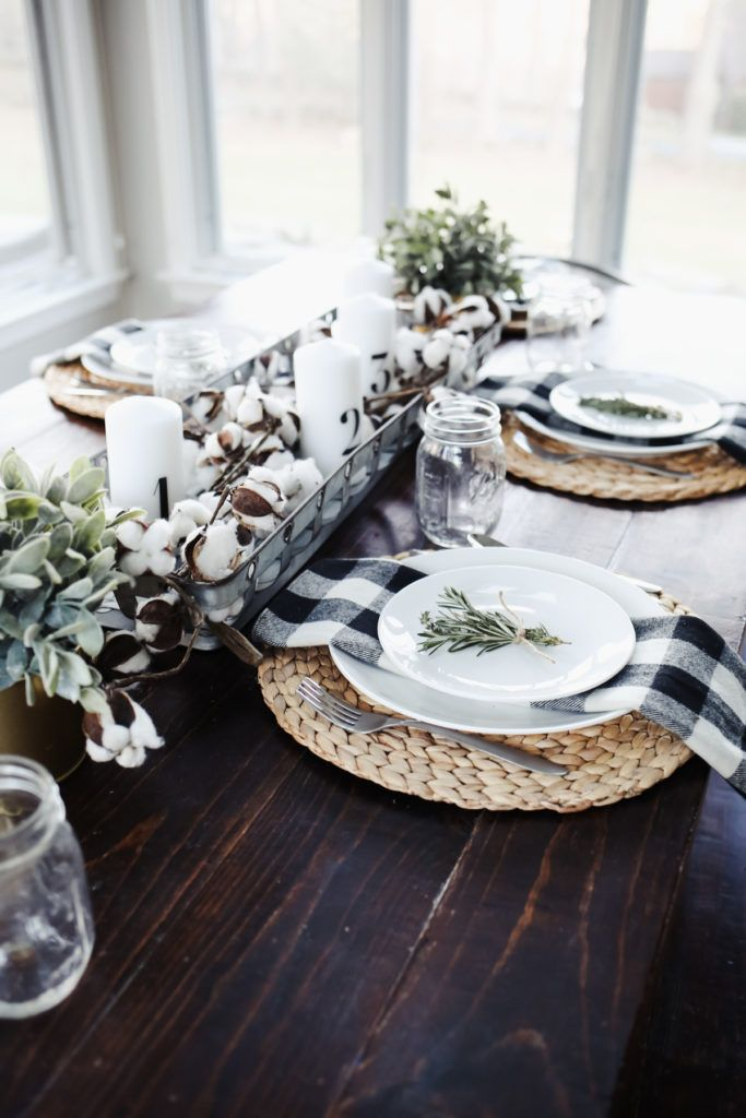 Modern Farmhouse Thanksgiving Tablescape House Dining