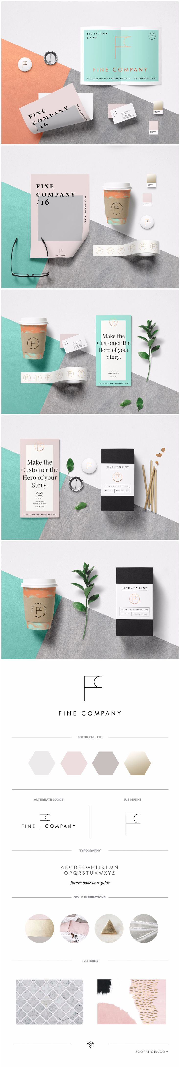 Brand Identity we designed for Fine Company, a Public Relations firm led by Tasha Anderson, serving in the lifestyle, wellness, music and fashion industries #pr #publicrelations #fashion #lifestyle #branding #brandidentity #logodesign #logo #logodesigner #companylogo #corporateidentity