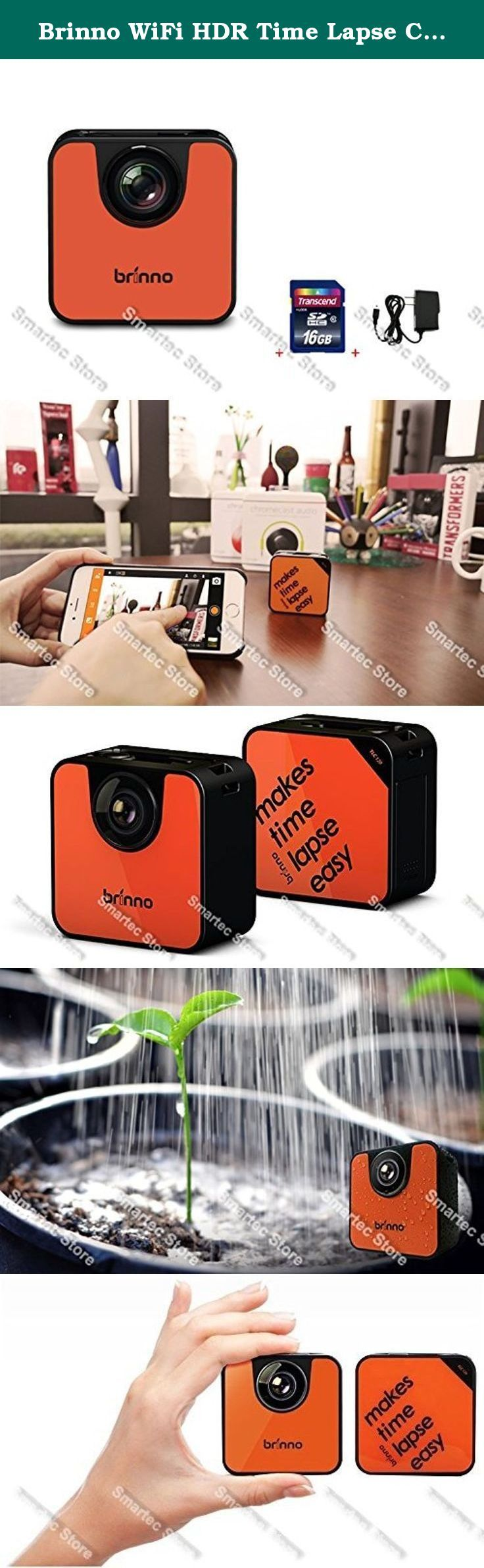 Brinno WiFi HDR Time Lapse Camera TLC120 + 16GB SD Card + Wall Power Supply. With Brinno Time Lapse Video 1, 2, 3 solution, at the push of a button even without the help of Brinno Camera APP, Brinno TLC120 capture photos and make time lapse videos automatically!*Without the help of Brinno Camera APP, press and hold the Shutter Button once for three seconds. The camera status lights (green) flash one time, your camera is on and will take the time lapse video with the last time camera set…