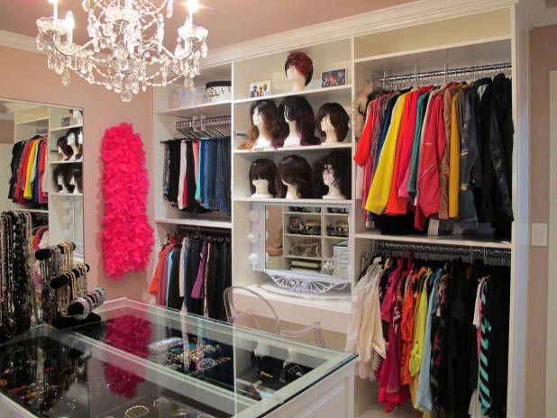 Elegant Inside Niecy Nashu0027s Colorful And Glamorous Los Angeles House. Custom Closet  ...