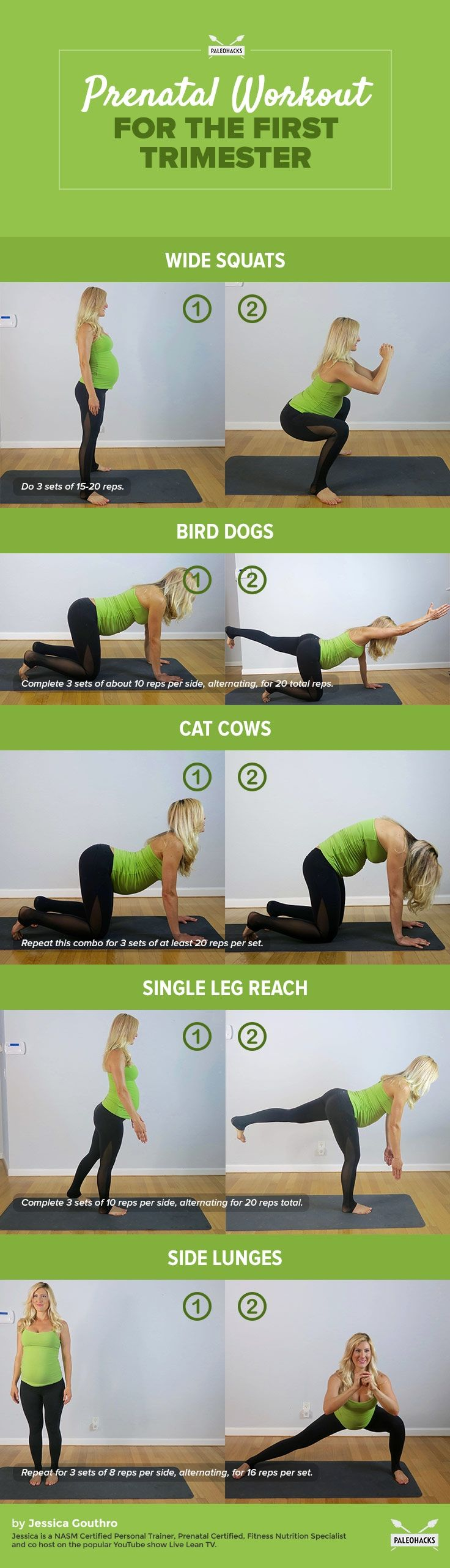 Do\u2019s and Don\u2019ts: Prenatal Workout Safety for the First Trimester. There are SO many exercises that are wonderful for both moms and babies, and I encourage you (or your clients) to stay active throughout the full term\u2014but of course, in a safe and smart way. There are certainly some types and modalities of exercise that you should avoid, but we\u2019ll get to that at the end of this article. For the full article visit us here: http://paleo.co/prenatalworkout…