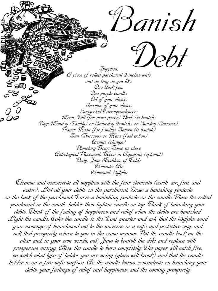 To banish debt