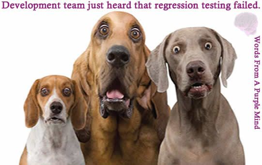 When the #testing team reports that regression testing failed with showstoppers. #programming #softwaretesting 
