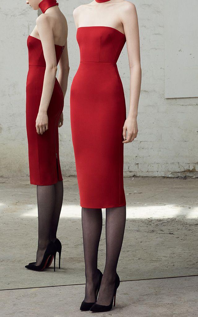 Myra Strapless Column Dress by ALEX PERRY for Preorder on Moda Operandi
