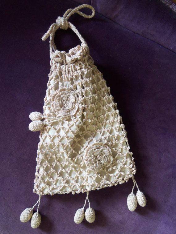 Antique Victorian Crochet Purse/Reticule from by rustysecrets, $20.00