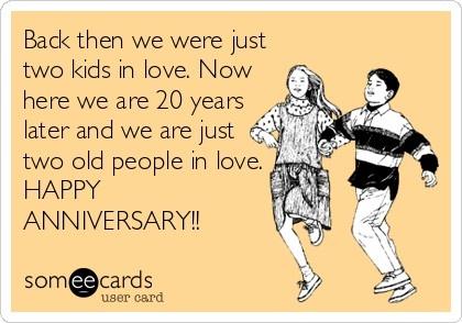 Happy 20th Anniversary to my hubby!!