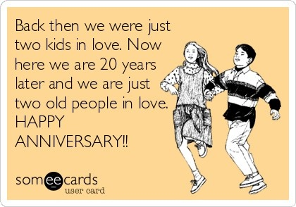 Happy 20th Anniversary to my hubby!!                                                                                                                                                                                 More