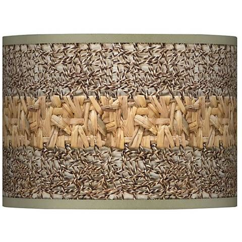 Woven Fundamentals Giclee Glow Lamp Shade 13.5x13.5x10 (Spider) - #37869-N8107 | Lamps Plus