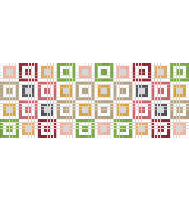 Kökskakel - Mosaik - på Kakelmonster | Dekoration Kiwi 20x50