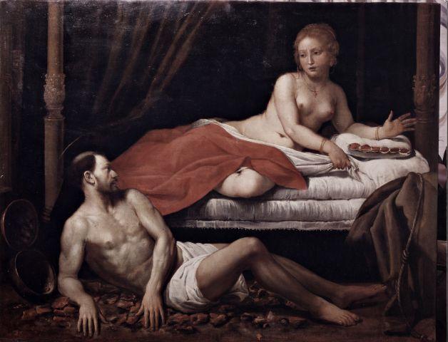 Anonimo , Fiasella Domenico - attr. - sec. XVII - Tentazione di san Francesco d