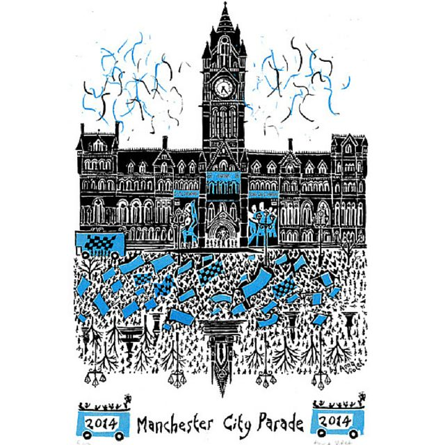 MCFC victory parade Albert Square print, very cool