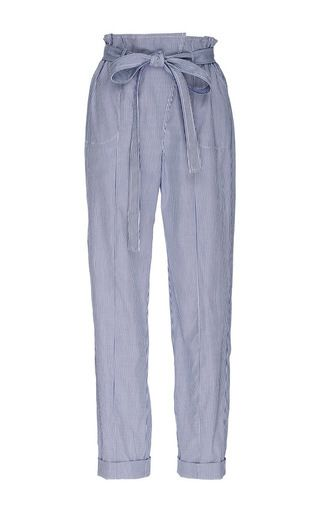 Billie Cotton High Waisted Cropped Pants by PIAMITA Now Available on Moda Operandi