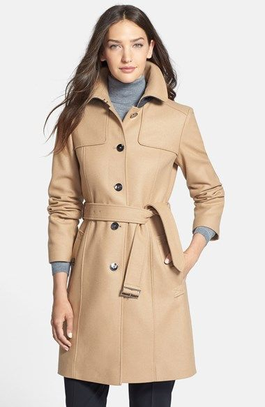 A classic camel wool trench coat from Boss