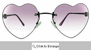 Dita Heart Sunglasses - 266 Lavender