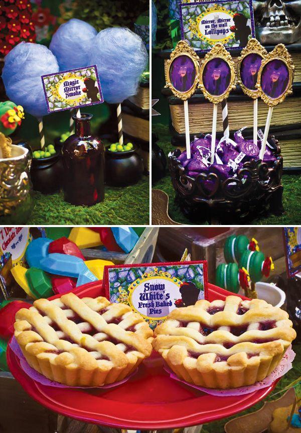 Disneys Snow White Birthday Jubilee Dessert Table