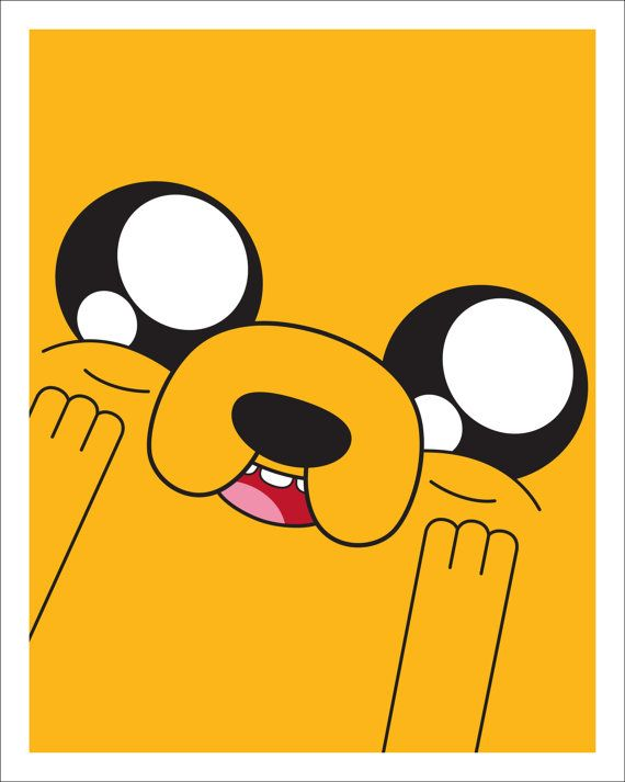 Adventure Time Jake the Dog Happy 8x10 print by CandyColorWorld