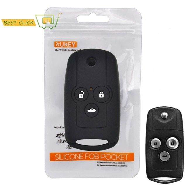 Black Silicone Case Cover For Honda Accord Civic CRV Jazz Remote Key 2 3 Buttons
