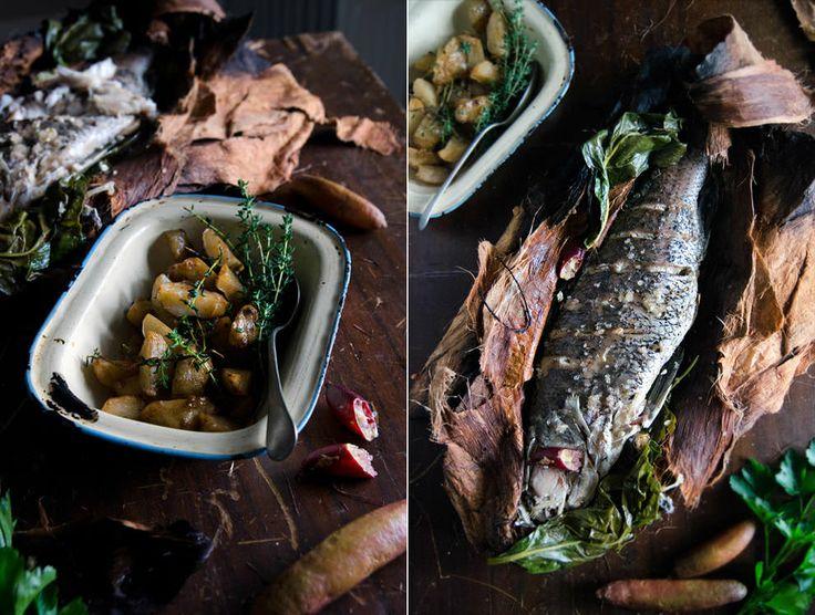 Paperbark barramundi, jerusalem artichoke + finger lime (He Needs Food)