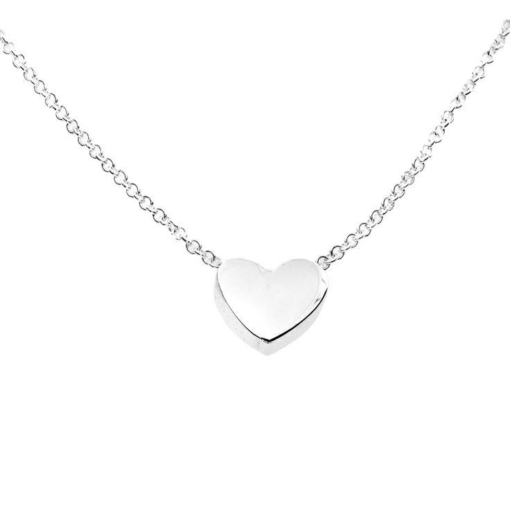 Silver Heart Slider Necklace