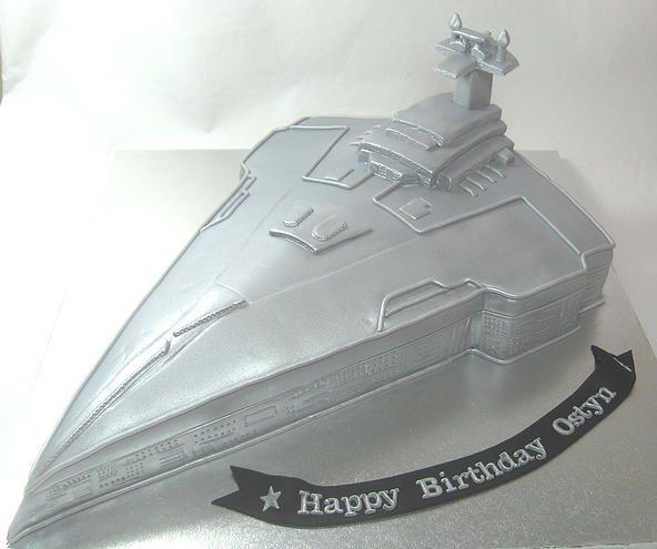 Star Wars Spaceship Boys Birthday Cake by www.carryscakes.com.au