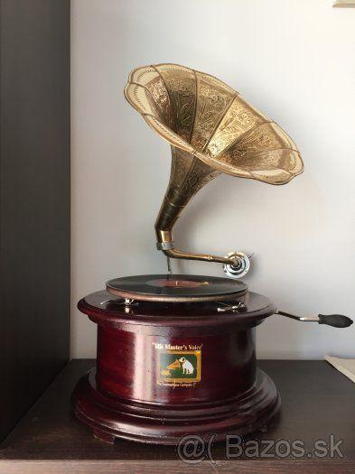 Nostalgia Gramofón pákový - okrúhly podstavec - 1