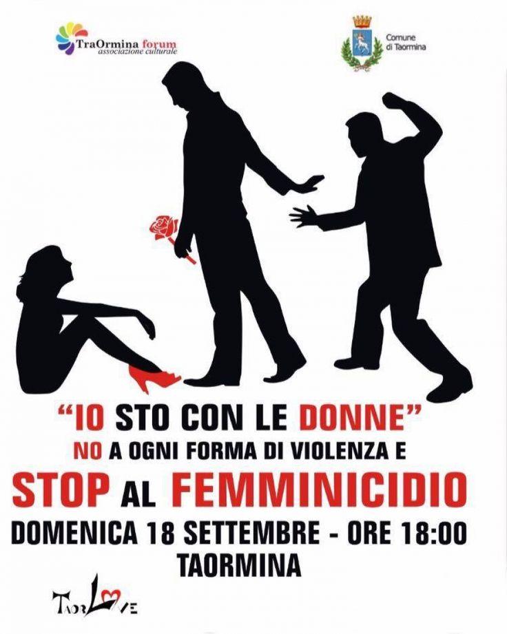 A Taormina fiaccolata di uomini contro il femminicidio