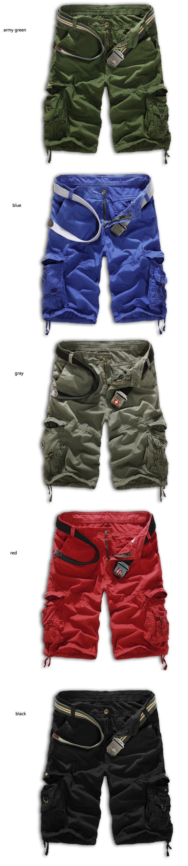shorts masculino 2014 militar camuflagem de carga shorts homens exterior solta algodão shorts de corrida dos homens do exército bermuda calças curtas - Como Importar roupas e acessórios