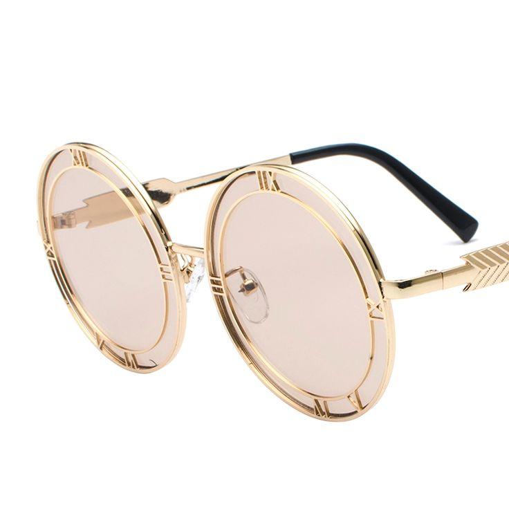Outsized Spherical Shade Summer season Vogue Sun shades Girls Classic Model Designer Glasses Males Letter Sunglass Gafas Retro Oculos [orc32867347580] – $24.68 : BuyEyesWear Sun shades