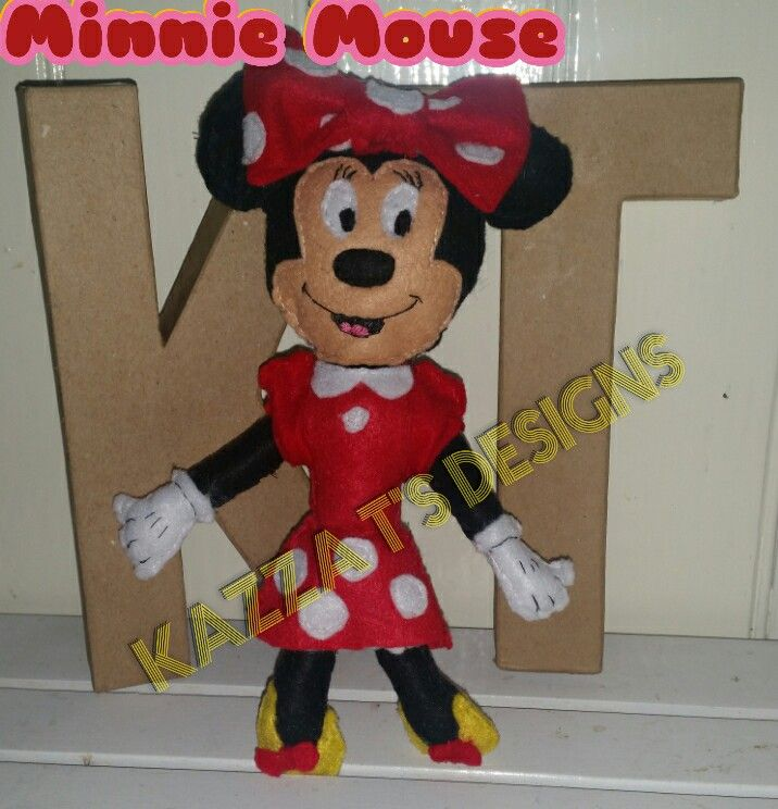 Minnie Mouse Handmade felt plush doll 😆 👍 #kazzatsdesigns #feltplushdolls #beingcreative #kazzatsdesigns #favecharacters #disney #minniemouse