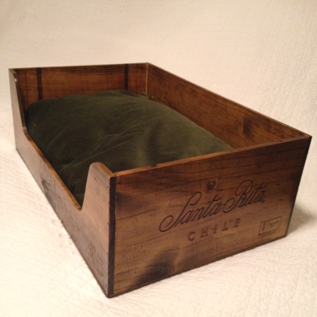 25 best wine crate pet bed ideas images on pinterest bed for Crate and barrel dog bed