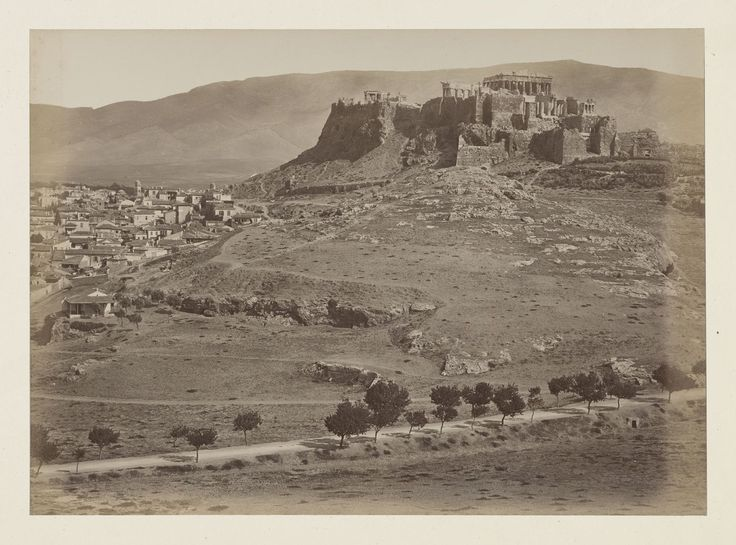 Vue générale de la ville d'Athènes, panorama, épreuve n°                     4/6 © Musée Guimet, Paris, Distr. Rmn / Image Guimet
