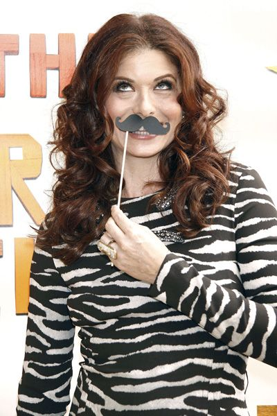 Nice moustache! Debra Messing at Peter and the Starcatcher opening night