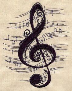 treble clef sheet music tattoo - Google Search
